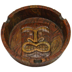 "4.25"" Round Tiki Ashtray"