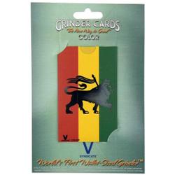 V Syndicate Grinder Card - Colour - Rasta Lion