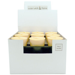 Wax Wick & Flame - Votive Box of 18 - Dreamsicle