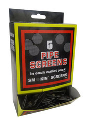 Brass 5PK - Brass Screens in Packs of 5, 100 packs per display