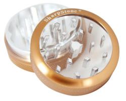 "SharpStone 2-Piece Grinder Pollinator Glass Top Colored 2.2"" - Brown"