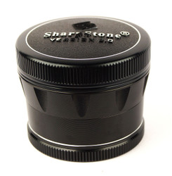 "SharpStone 4-Piece V2 Grinder Pollinator Colored 2.2"" - Black"