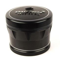 "SharpStone 4-Piece Version 2.0 Grinder Pollinator Colored 2.5"" - Black"