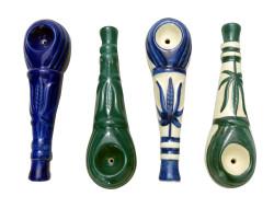 Ceramic Leaf Pipe Assorted Colors
