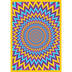 """ThreadHeads 55"""" x 85"""" Tapestry - Pyschedelic Motions"""