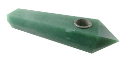 Moana - Green Aventurine Crystal Pipe