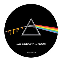 """DabPadz 5"""" Round Fabric Top 1/4"""" Thick - Dab Side of the Moon"""