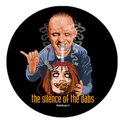 """DabPadz 5"""" Round Fabric Top 1/4"""" Thick - Silence of the Dabs"""