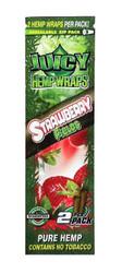 Juicy Jay Hemp Wraps 2x, 25 packs per box - Strawberry Fields