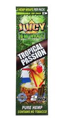 Juicy Jay Hemp Wraps 2x, 25 packs per box - Tropical Passion
