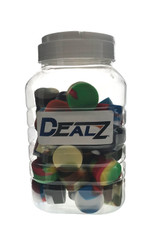 """Dealz 1.5"""" Silicone Dual Storage Container Display of 40"""