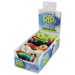 """3.85"""" Pulsar RIP Silicone Spoon - Display of 12 Assorted Colours"""