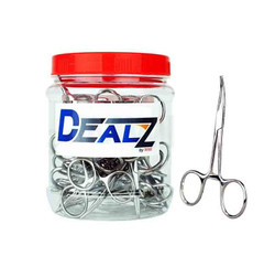 Dealz Small Silver Hemostat Display of 25