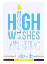 "KushKards ""just add a pre-roll"" Greeting Card - High Wishes"