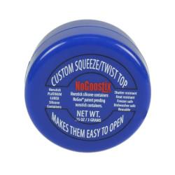 NoGoo Nonstick Silicone Blue Custom Jar