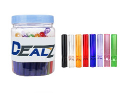 """Dealz 2"""" Glass Taster Bat Assorted Colours Display of 50"""