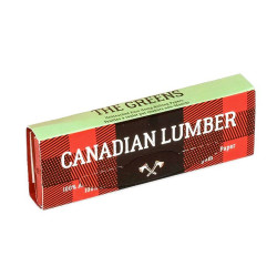 Canadian Lumber Greens 100% Unbleached Pure Hemp Rolling Paper 1 1/4 w/ Tips Box of 22