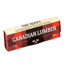 Canadian Lumber Hippy 50/50 Blend Unbleached Pure Hemp & Flax Rolling Paper 1 1/4 w/ Tips Box of 22