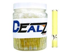 "Dealz 2"" 9mm Silver Fumed Glass Bat Display of 50"
