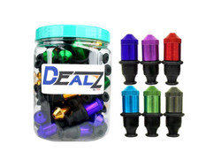 Dealz Anodized SAT Sneak-A-Toke Pipe Display of 50