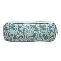 """Erbanna 7.5"""" x 2.8"""" x 2"""" Smell Proof Small Carry Case, Great for Pen Vapes - Rae - Silver Flower Print"""