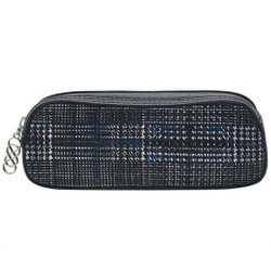 """Erbanna 7.5"""" x 2.8"""" x 2"""" Smell Proof Small Carry Case, Great for Pen Vapes - Rae - Blue Plaid"""