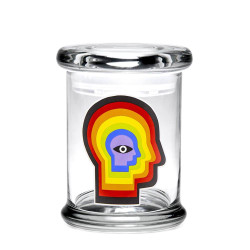 420 Science Pop Top Jar Medium - Rainbow Mind
