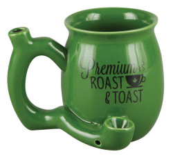 Premium Roast & Toast Ceramic Mug w/ Pipe - Small – Green