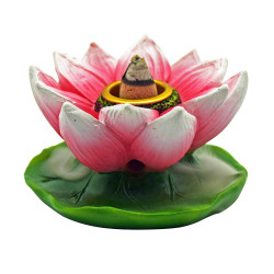 Small Backflow Incense Burner - Lotus Flower