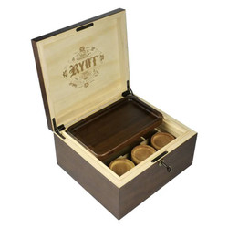 RYOT Lock R' Box w/ Rolling Tray & 3 Jars - Walnut - Large