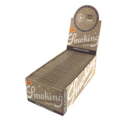 Smoking Brown Thinnest Unbleached Single Wide 1.0, 50 packs per Box