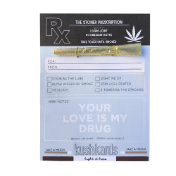 "KushKards ""just add a pre-roll"" Greeting Card - Stoner Script"