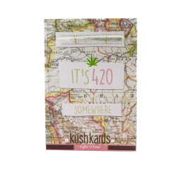 """KushKards """"just add a pre-roll"""" Greeting Card - It's 420 Somewhere"""