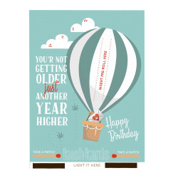 """KushKards """"just add a pre-roll"""" Greeting Card - You're Not Getting Older Just Another Year Higher"""