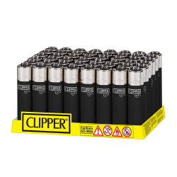 Clipper Lighters - 48 per pack - Soft Series Black