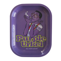 "5.5"" x 7"" Purple Urkle Metal Rolling Tray by Kill Your Culture"