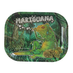"Kill Your Culture Rolling Tray - 5.5"" x 7"" - Mariguana"
