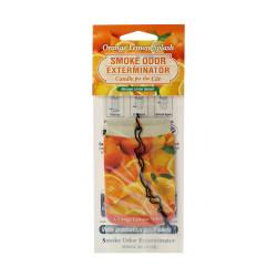 Orange Lemon Splash Smoke Odor Exterminator Car Air Freshener