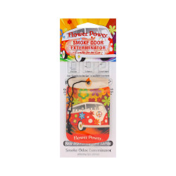 Flower Power Smoke Odor Exterminator Car Air Freshener