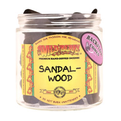 Wild Berry Back-Flow Incense Cones Pack of 25 - Sandalwood