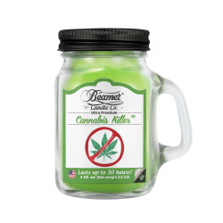 Smoke Killer Collection - 4oz Glass Mason Jar - Cannabis Killer by Beamer Candle Co.