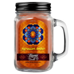 Beamer Candle Co. 12oz Glass Mason Jar - Moroccan Amber