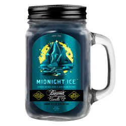 Beamer Candle Co. 12oz Glass Mason Jar - Midnight Ice