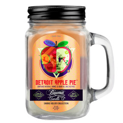 Beamer Candle Co. 12oz Glass Mason Jar - Detroit Apple Pie