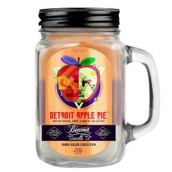 Beamer Candle Co. 12oz Glass Mason Jar - Detroit Apple Pie