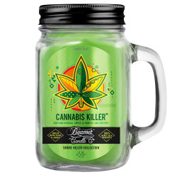 Beamer Candle Co. 12oz Glass Mason Jar - Cannabis Killer
