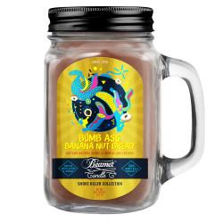 Beamer Candle Co. 12oz Glass Mason Jar - Bomb Ass Banana Nut Bread