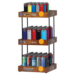 Bic 3-Tier Display w/ 2 x Tray of Classic & 1 x Tray of Mini