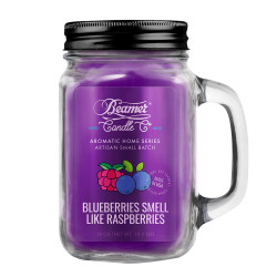 Beamer Candle Co. Blueberries Smell Like Raspberries 12oz Glass Mason Jar