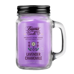 Beamer Candle Co. Lavender & Chamomile 12oz Glass Mason Jar